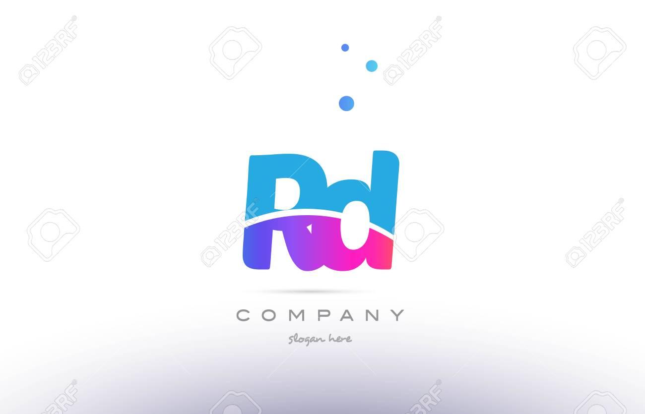 Rd Rd Rose Violet Bleu Blanc Majuscule Minuscule Moderne Créatif Alphabet  Gradient Société Lettre Logo Design D'icône Vecteur Modèle pour Modele Alphabet Majuscule