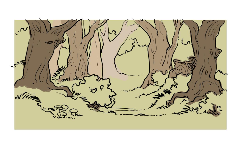 Réaliser Un Dessin D'une Forêt - Dessindigo à Dessin De Foret