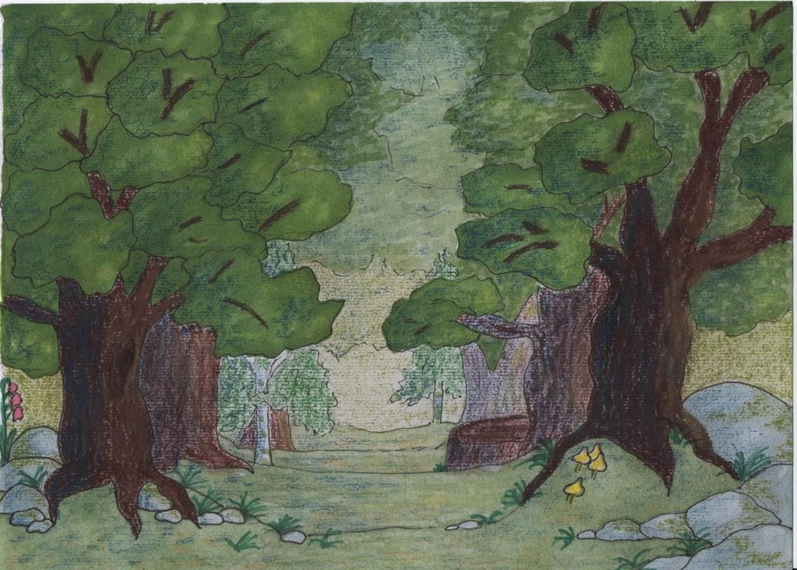Réaliser Un Dessin D'une Forêt - Dessindigo destiné Dessin De Foret