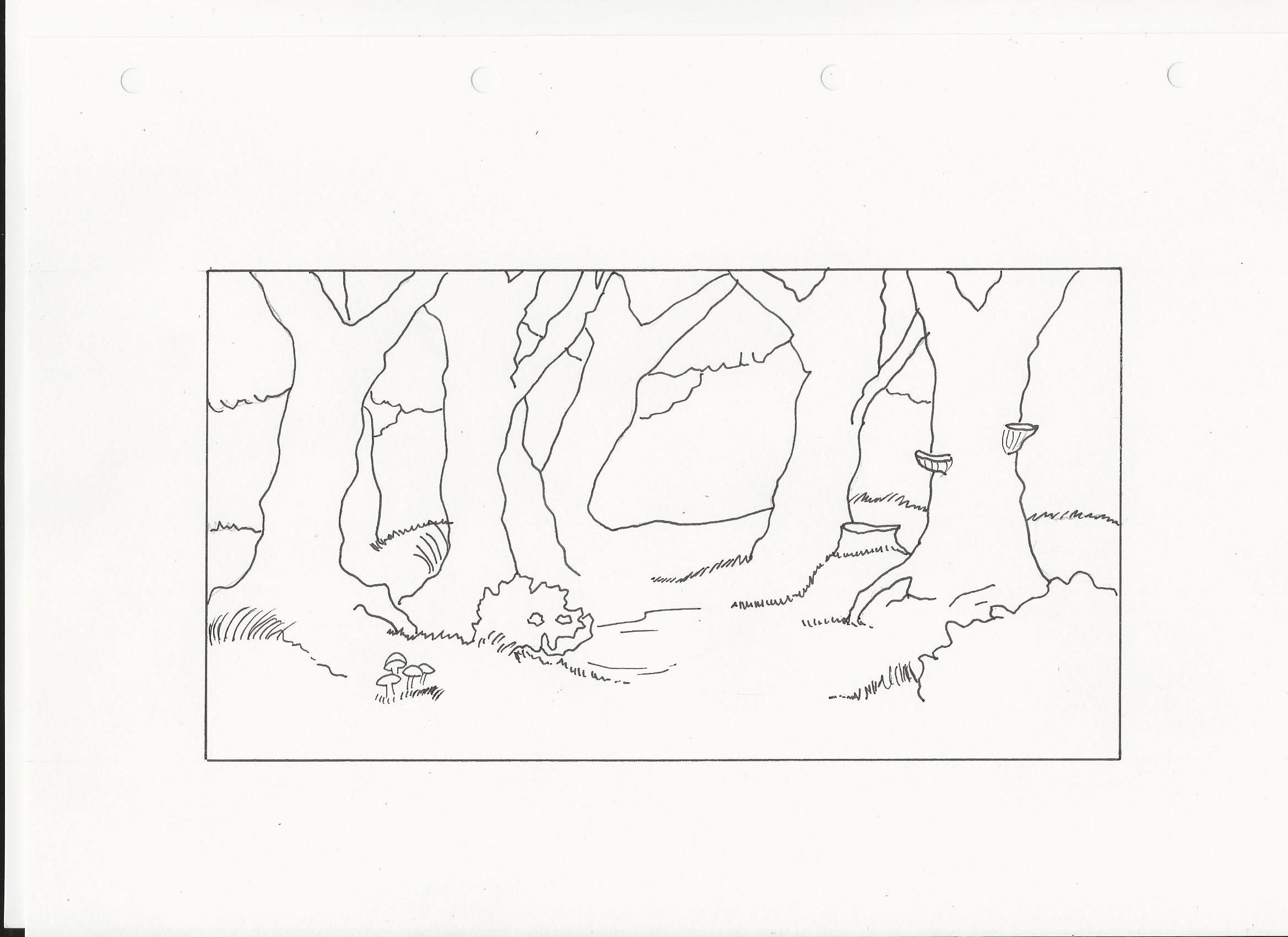 Réaliser Un Dessin D'une Forêt - Dessindigo encequiconcerne Dessin De Foret