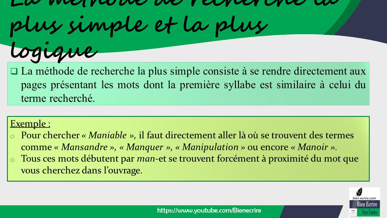 Recherche 1-Comment Chercher Dans Un Dictionnaire De Langue à Chercher Les Mots