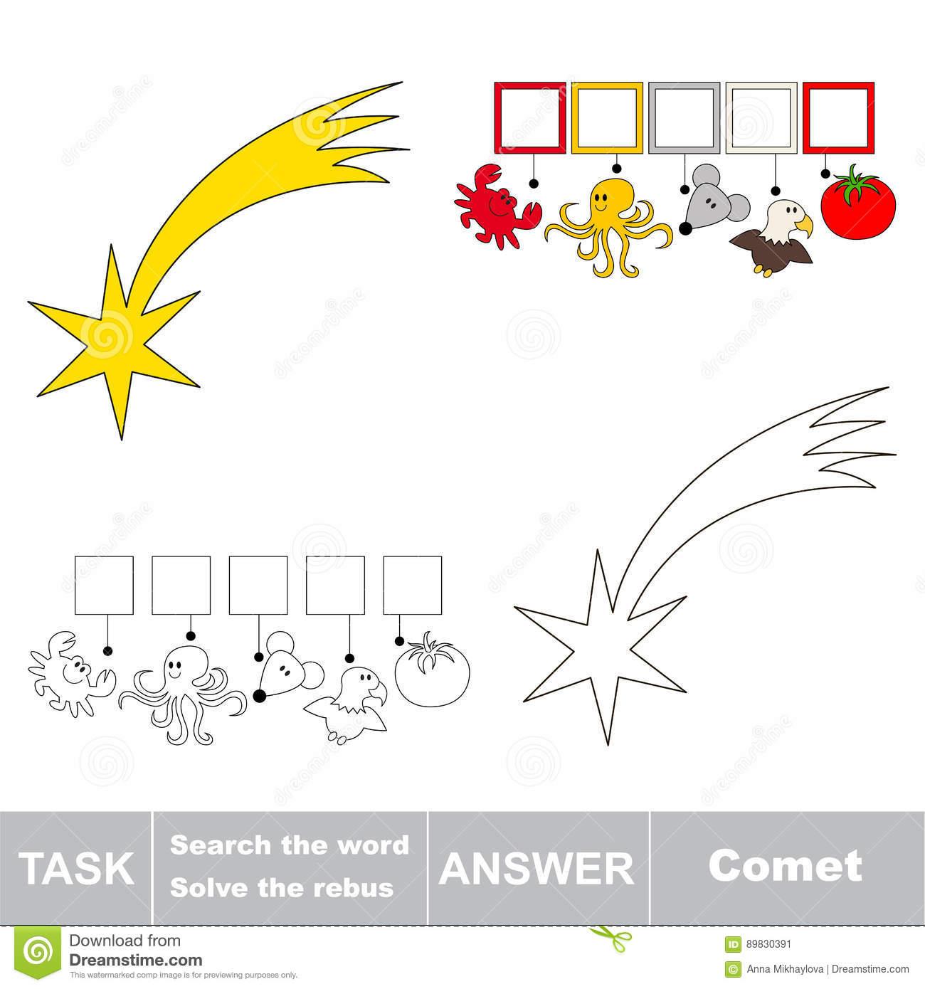 Recherchez Le Mot Caché, Le Jeu Éducatif Simple D'enfant intérieur Mot Pour Enfant