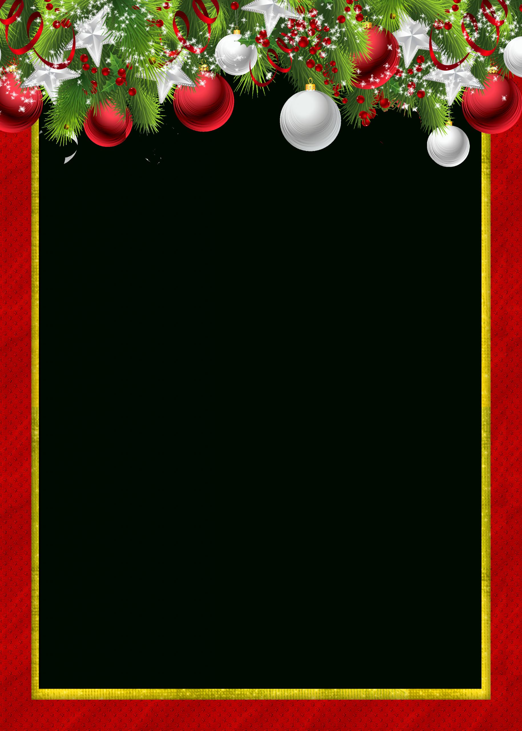 Red Transparent Png Christmas Photo Frame With Christmas dedans Papier Lettre De Noel