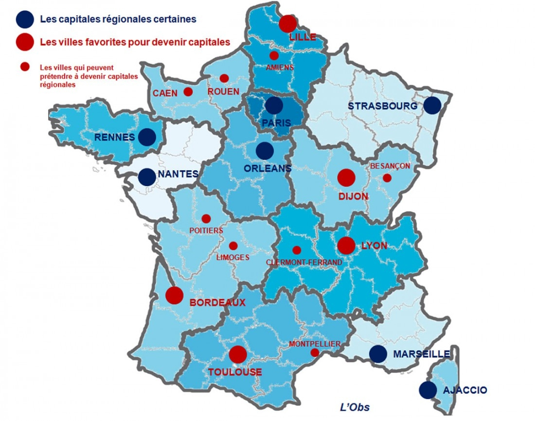 Réforme Territoriale : Après La Bataille Des Régions, Le concernant Carte Des 13 Nouvelles Régions De France