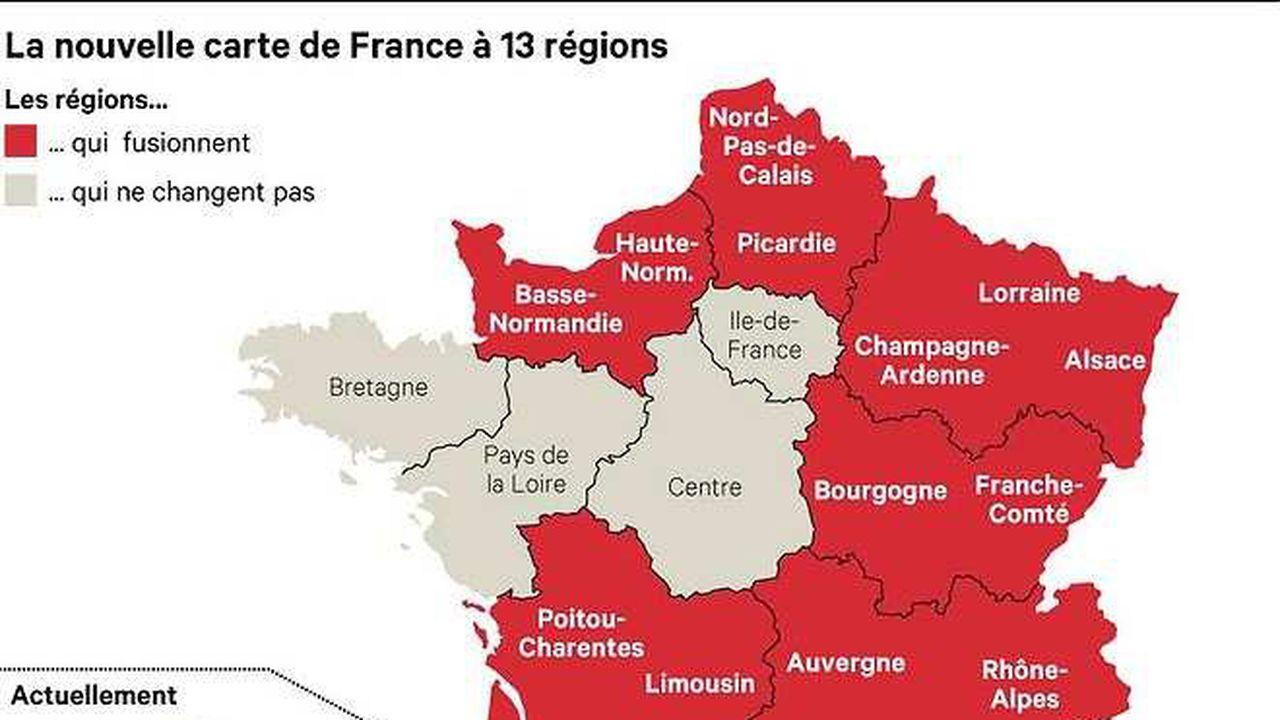 Réforme Territoriale : La Carte À 13 Régions Définitivement à Carte Des 13 Régions