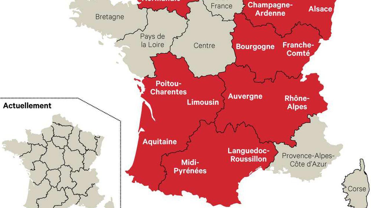 Réforme Territoriale : La Nouvelle Carte De France Des pour Nouvelle Carte Des Régions De France