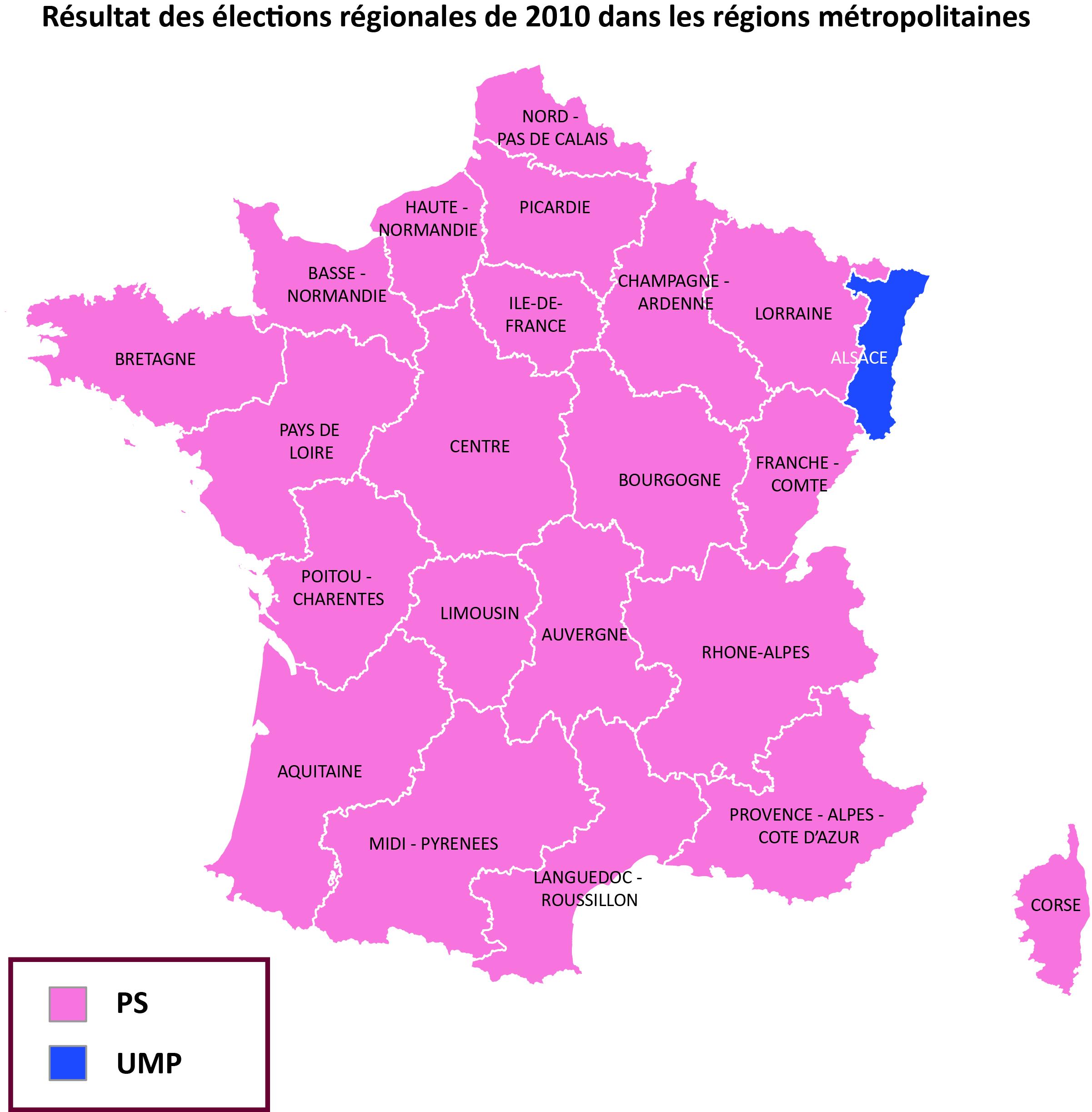 Réforme Territoriale: Pour Qui Voteront Les Nouvelles avec Carte Des Régions De La France