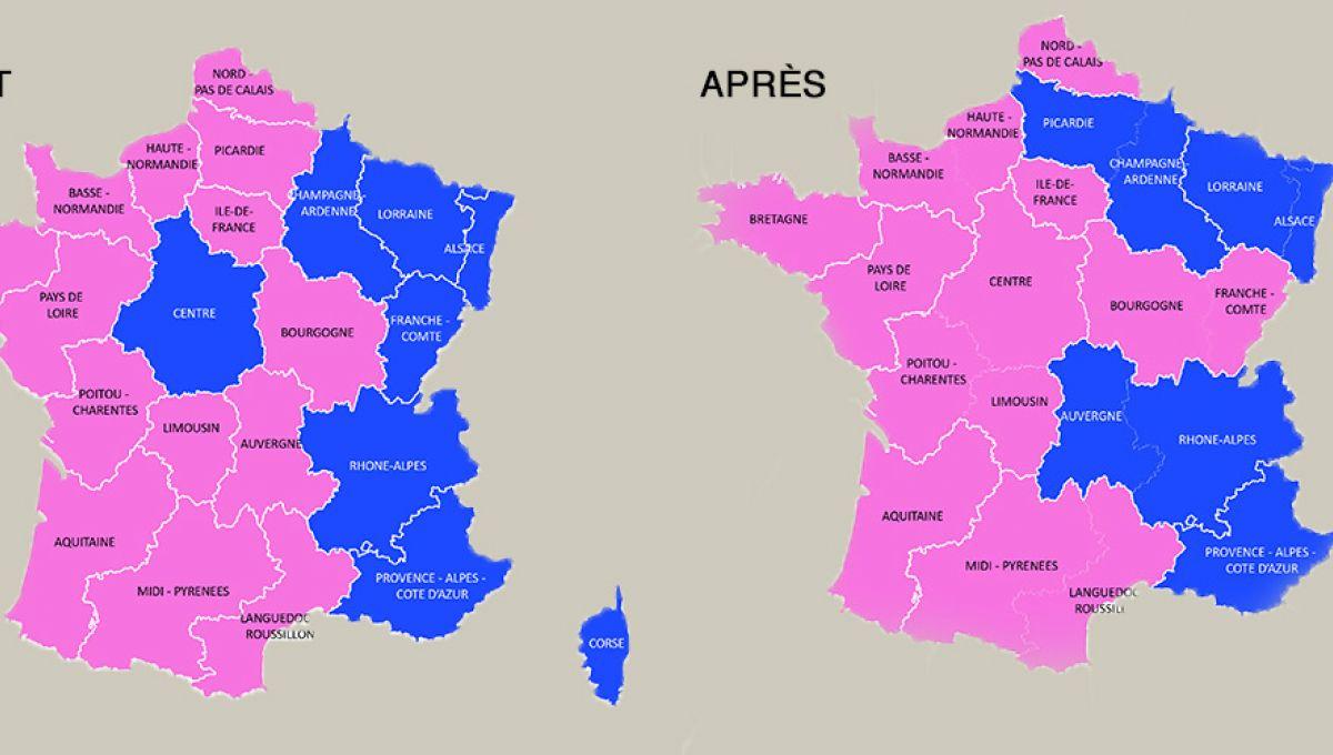 Réforme Territoriale: Pour Qui Voteront Les Nouvelles serapportantà Carte Des Nouvelles Régions Françaises