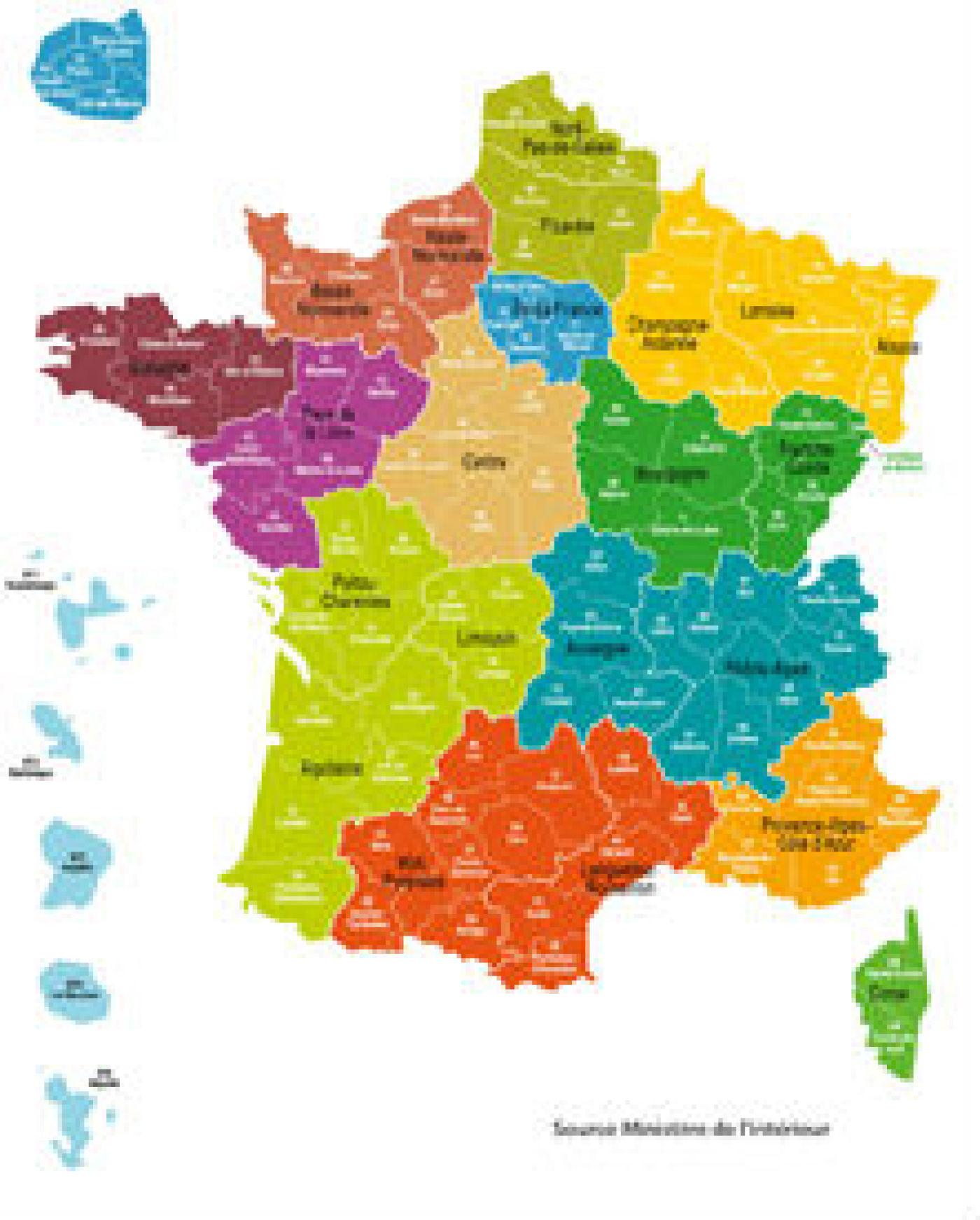 Réforme Territoriale: Quels Noms Pour Les Nouvelles Régions? concernant Carte De France Nouvelles Régions