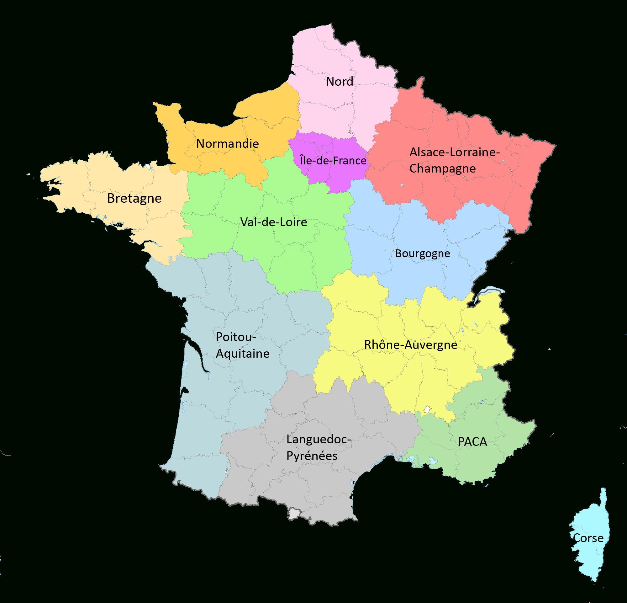 Réforme Territoriale : Une Nouvelle Carte À 12 Régions intérieur Nouvelles Régions Carte