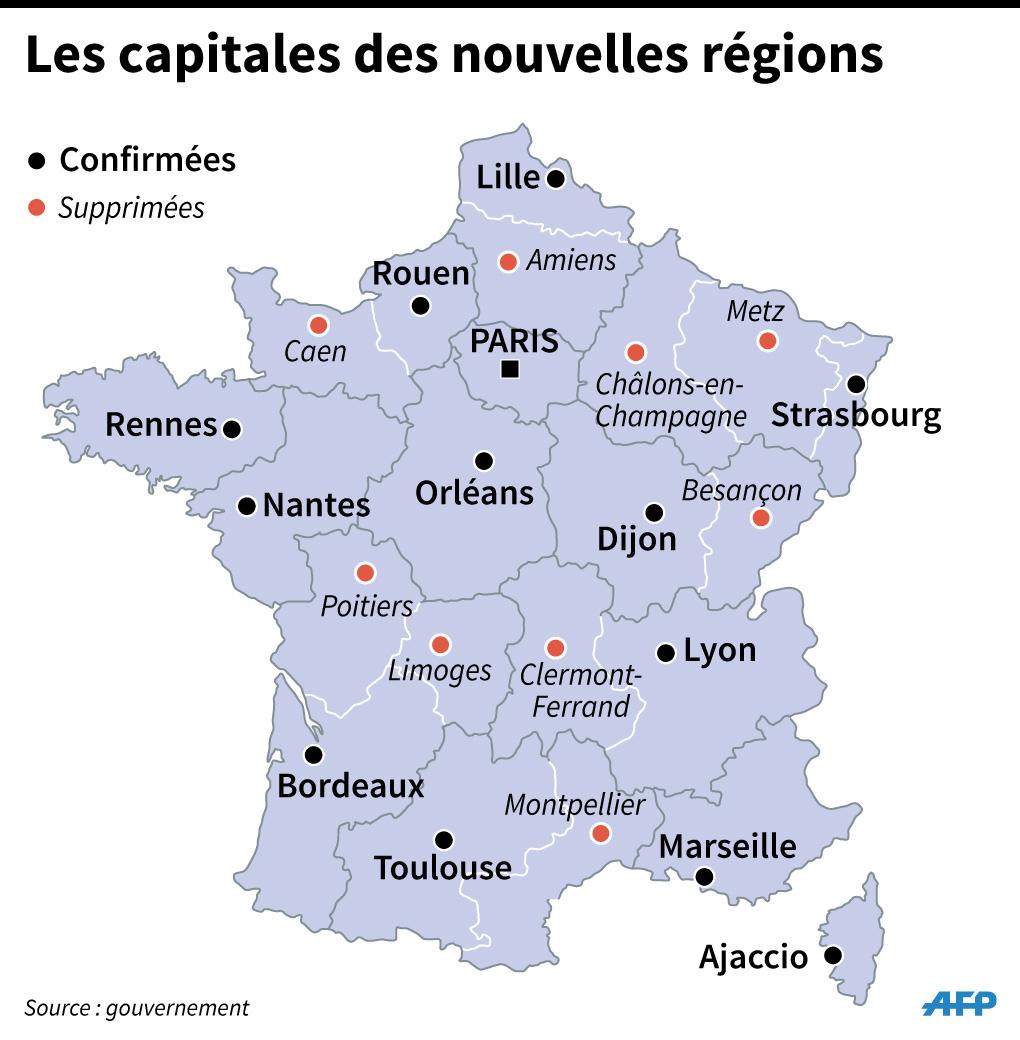 Région, Département, Commune : Qui S'occupe De Quoi avec Nouvelle Carte Des Régions De France