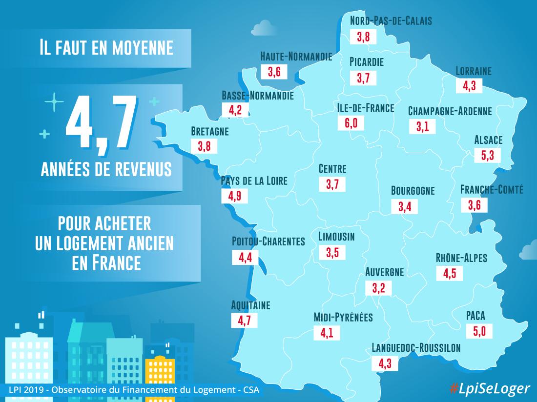 Région Par Région… Combien D'années De Revenus Pour Acheter destiné Combien De Region En France