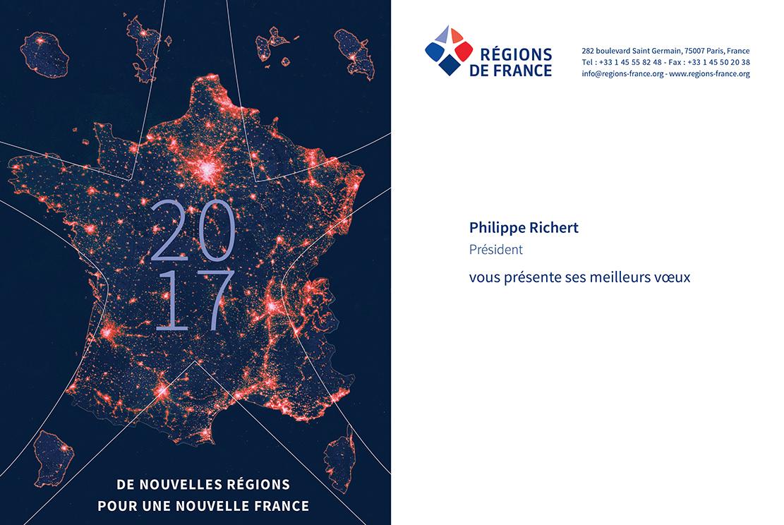 Régions De France Vous Souhaite Une Bonne Année 2017 serapportantà Nouvelles Régions De France 2016