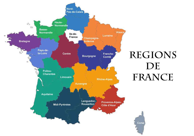 Régions De France - Voyages - Cartes pour Carte Des Régions De France 2016
