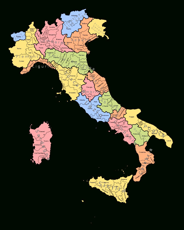 Régions D'italie — Wikipédia pour Liste Des Régions Françaises