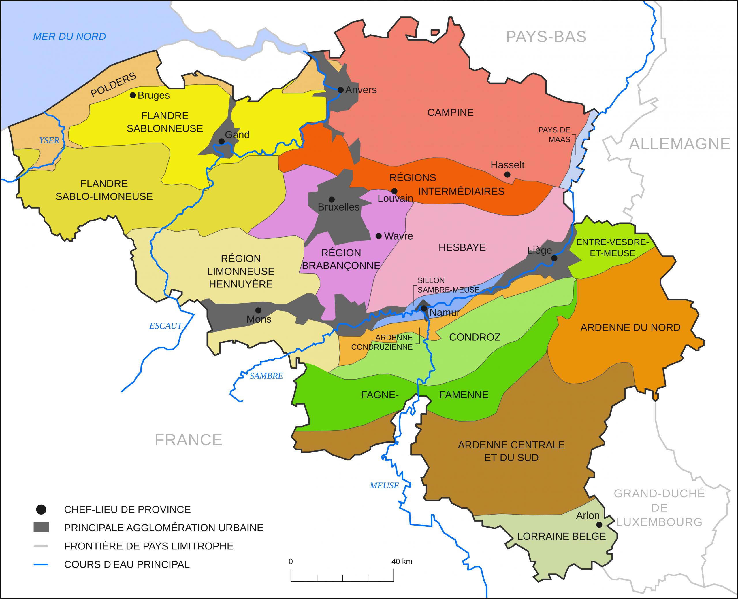 Régions Naturelles De Belgique — Wikipédia pour Carte Des Régions À Compléter