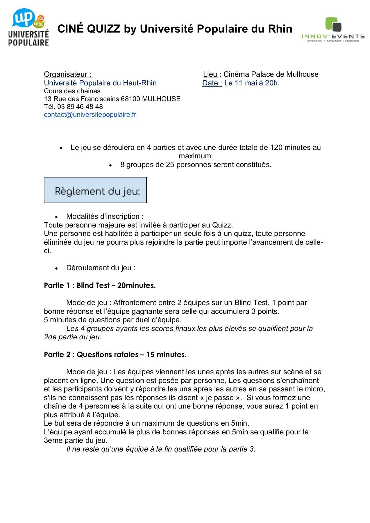 Reglement Jeu Palace | Fliphtml5 pour Jeux Avec Des Questions