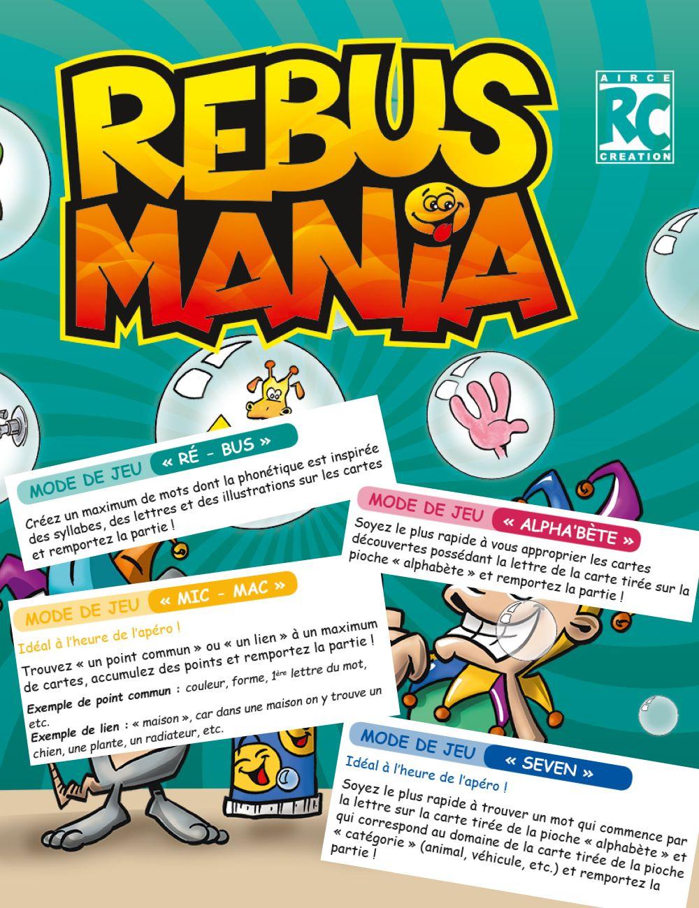 Règles Du Jeu Rebus Mania - Aircé.ch intérieur Jeux De Rebus