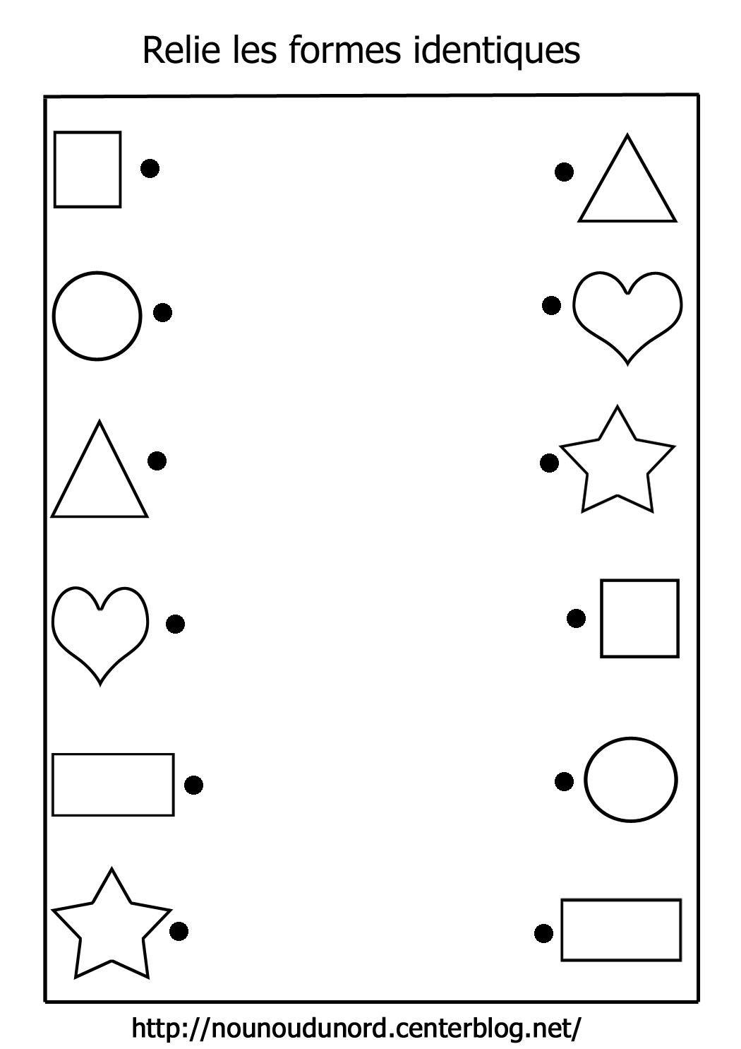 Relit Les Formes Identiques (Avec Images) | Fiches De serapportantà Exercice Maternelle Petite Section