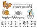 Remplissez Les Mots En Utilisant Le Code De Chiffrement. Enfants Jeu  Éducatif. Apprendre Insectes Animaux Thème, Vocabulaire Et Numéros avec Apprendre Les Animaux Jeux Éducatifs
