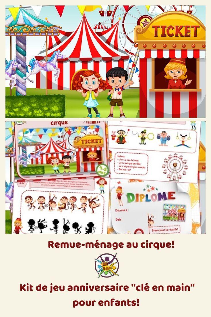 Remue-Ménage Au Cirque | Chasse Au Tresor Enfant, Jeux encequiconcerne Jeux Ludique Enfant