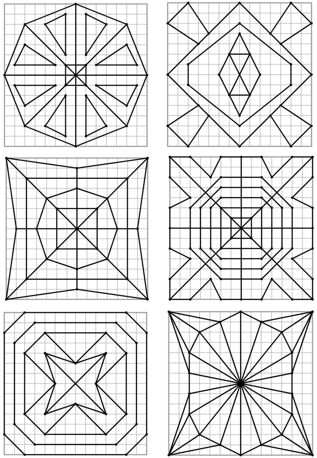Remue Méninge: Reproduction De Figures Géométriques destiné Reproduction De Figures Sur Quadrillage