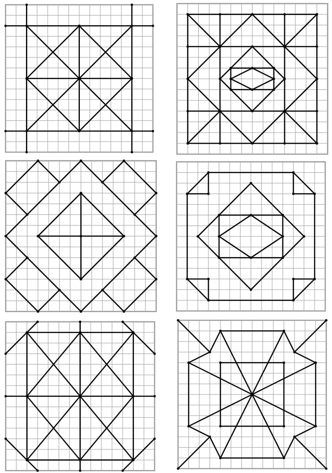 Remue Méninge: Reproduction De Figures Géométriques pour Reproduction Sur Quadrillage Ce2