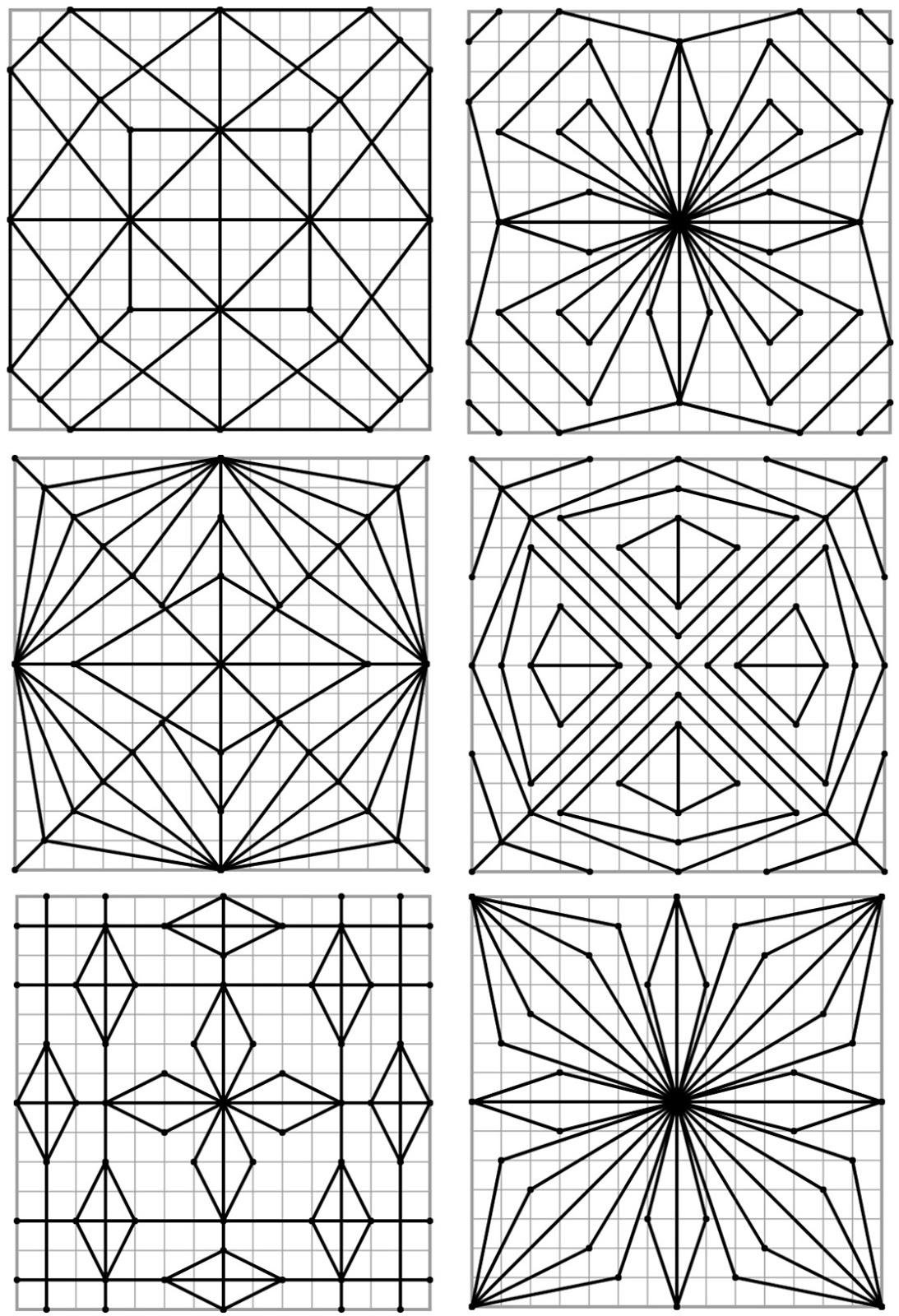 Remue Méninge: Reproduction De Figures Géométriques tout Reproduction De Figures Sur Quadrillage