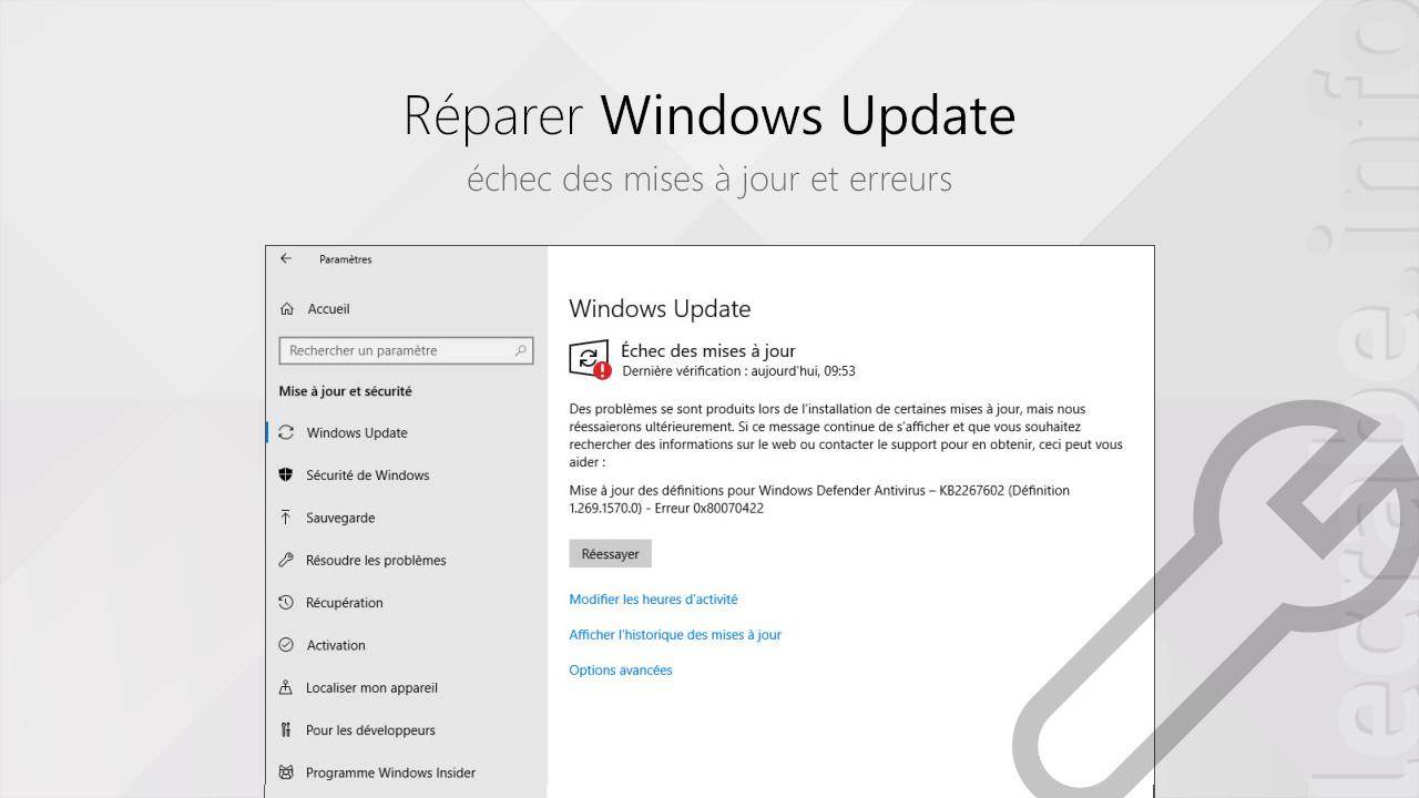 Réparer Windows Update (Échec Des Mises À Jour Et Erreurs destiné Trouver Les 7 Erreurs