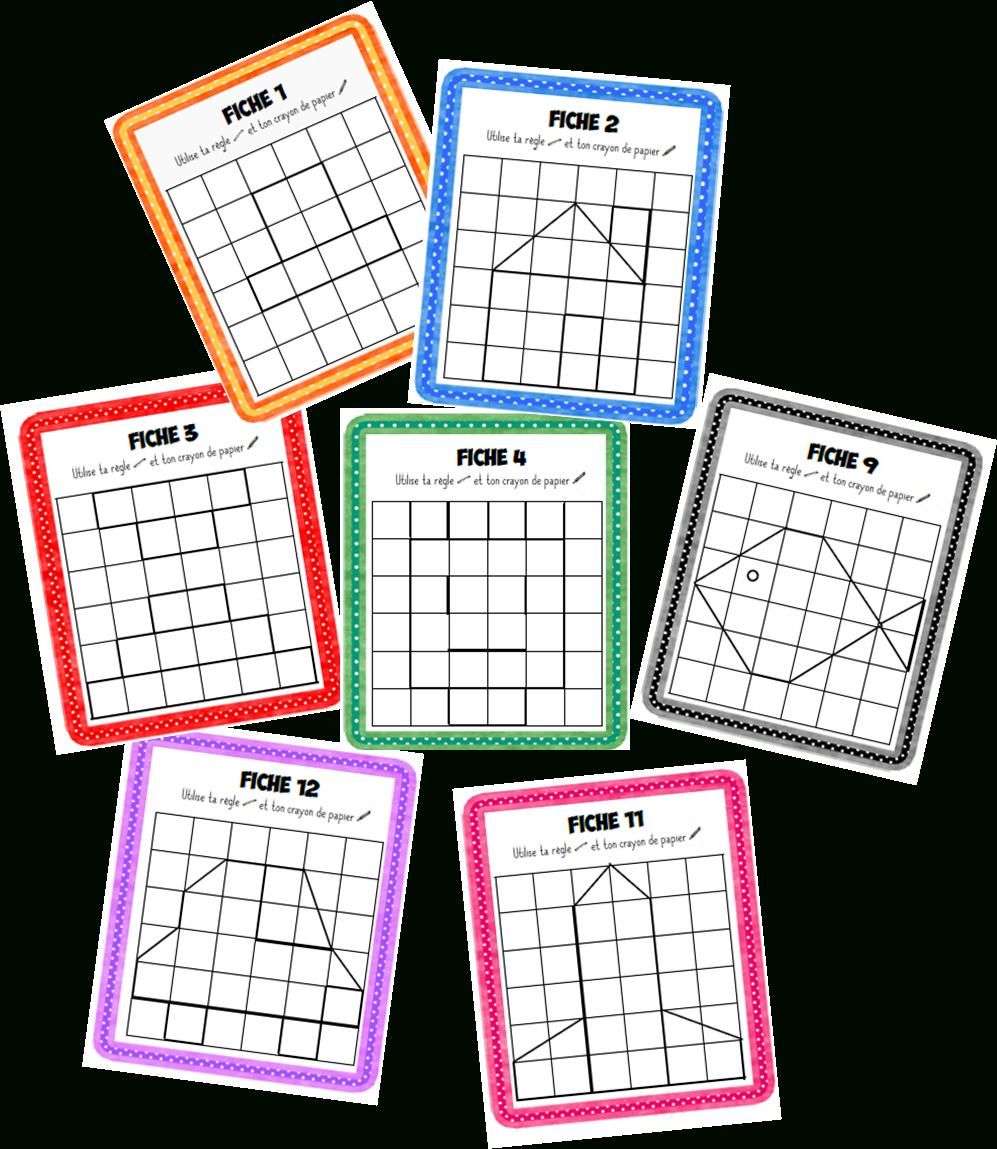 Reproduction De Figures | Géométrie Ce1, Quadrillage Ce1 Et avec Reproduction Sur Quadrillage Ce2