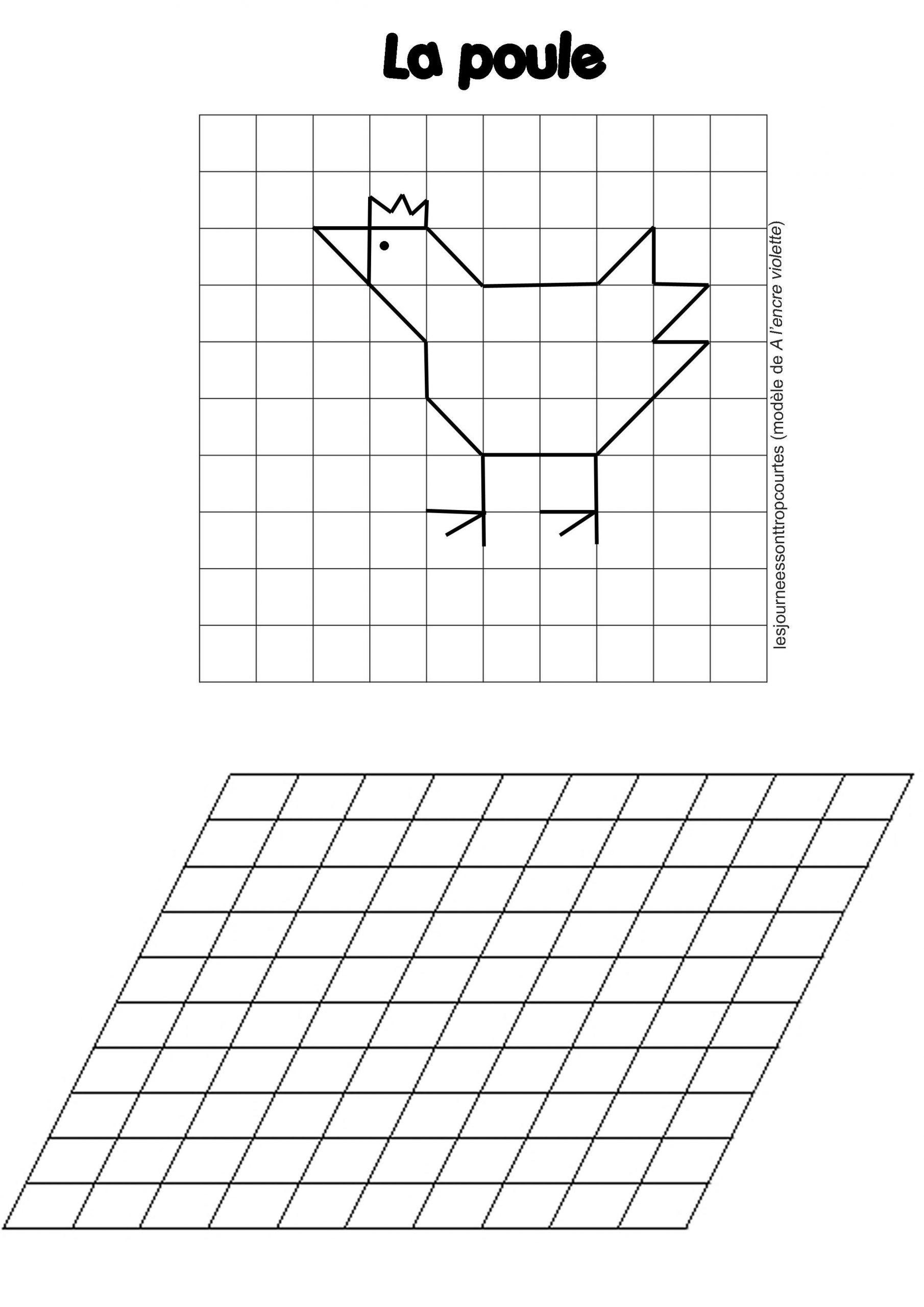 Reproduction De Figures | Géométrie, Quadrillage Et dedans Reproduire Un Dessin Sur Quadrillage