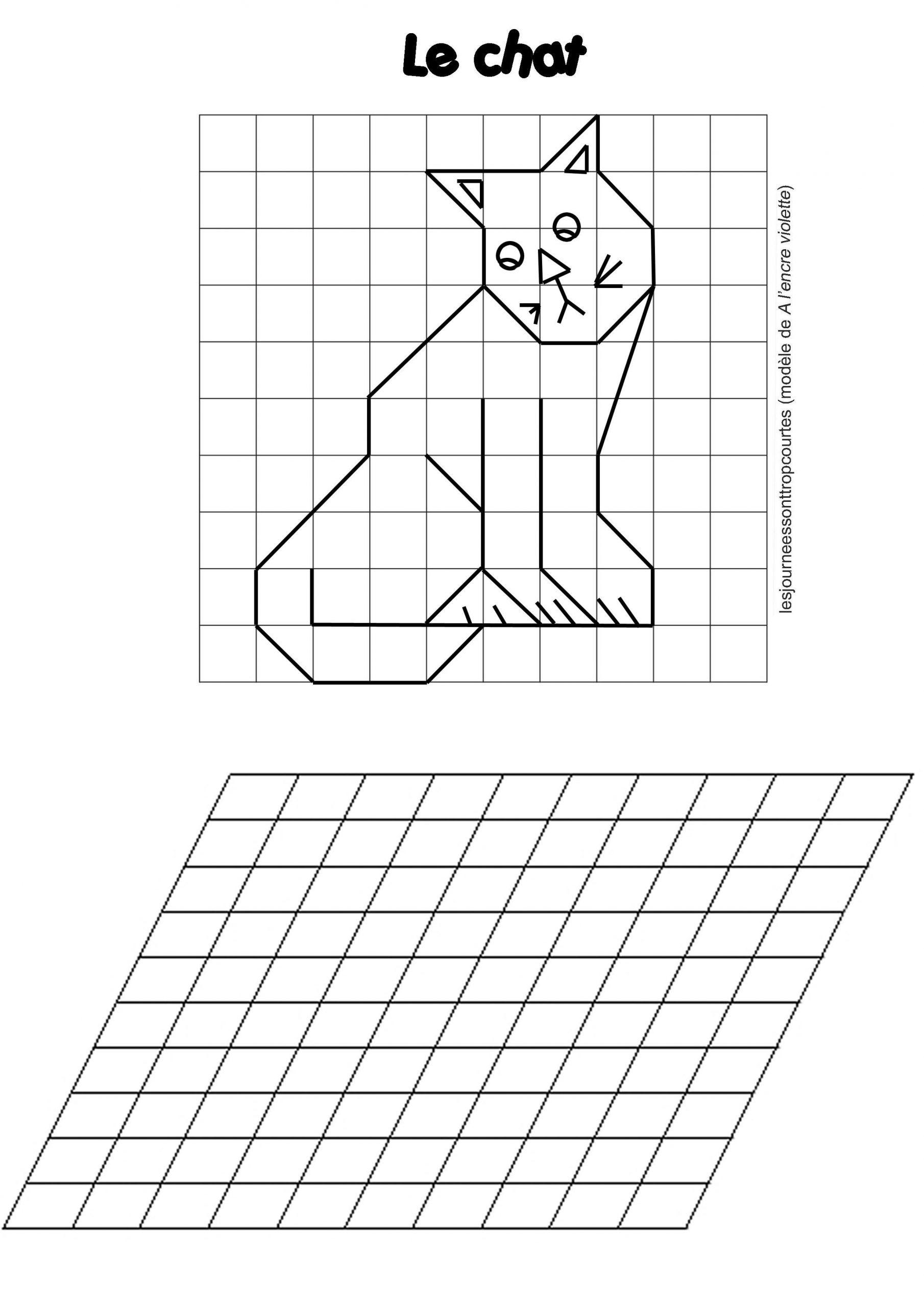 Reproduction De Figures | Math Scolaire | Dessin Quadrillage à Reproduction Sur Quadrillage Ce2