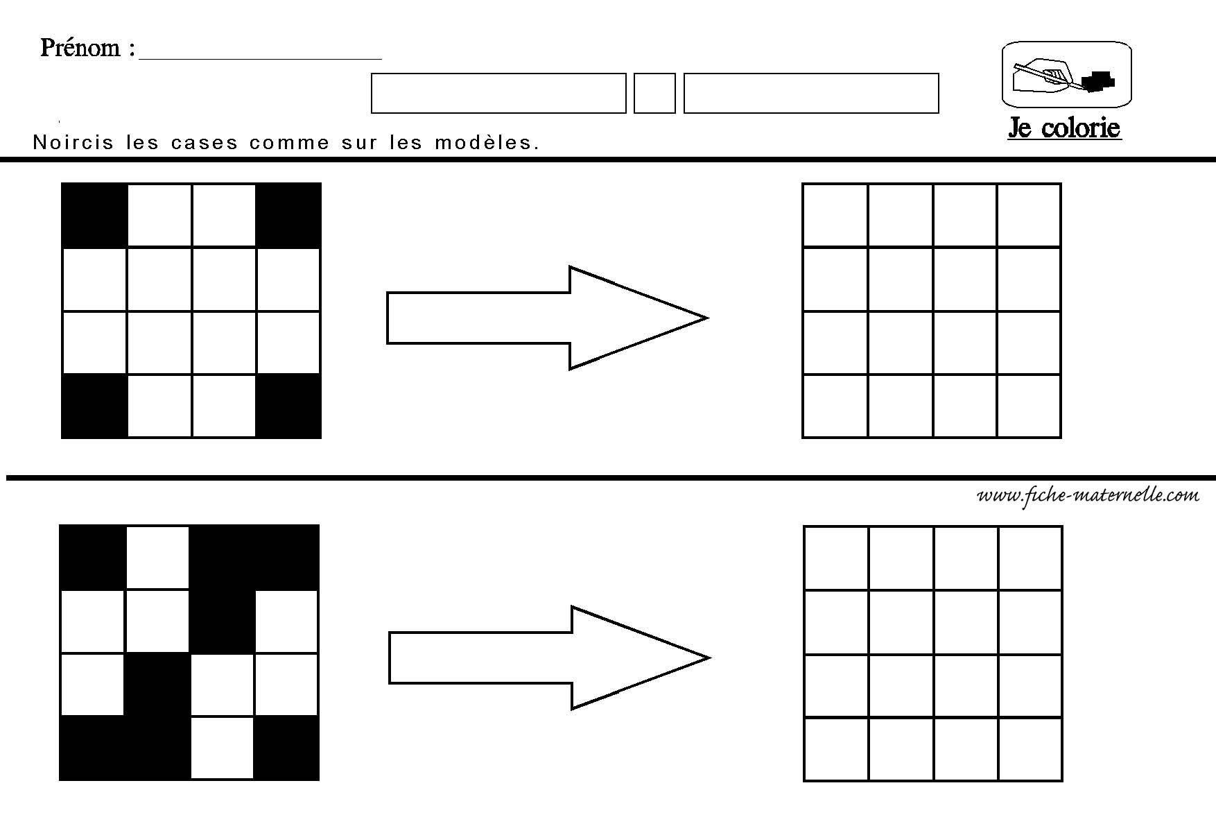 Reproduire Un Quadrillage En Ms Gs Et Cp | Orientación encequiconcerne Symétrie Quadrillage