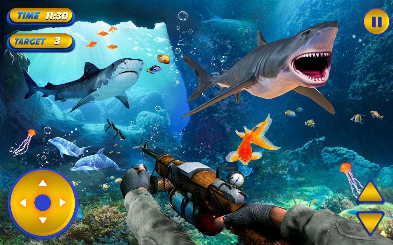 Requin Sous-Marin De Pêche Au Requin Tigre Jeu Pour Android serapportantà Requin Jeux Video