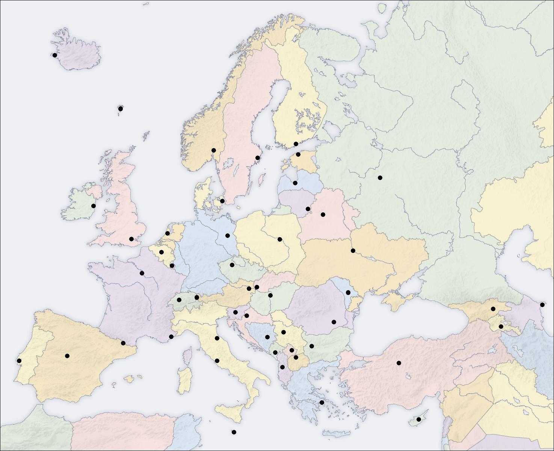 Ressources Éducatives Libres - Data.abuledu   Les tout Carte Des Capitales De L Europe