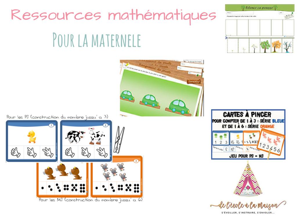 Ressources Mathématique À Imprimer Pour La Maternelle - encequiconcerne Jeux Mathématiques À Imprimer