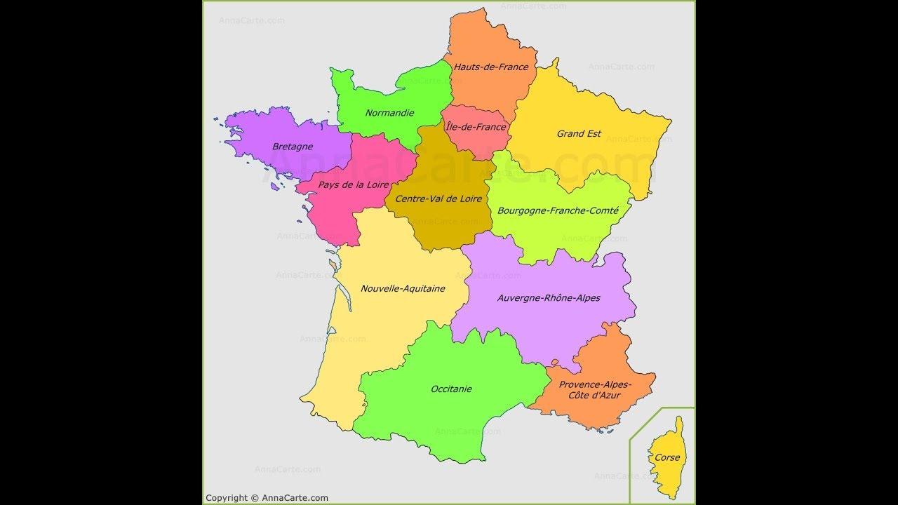 Ressources Numériques, Carte De France Vierge Nouvelles Régions destiné Carte De France Vierge Nouvelles Régions