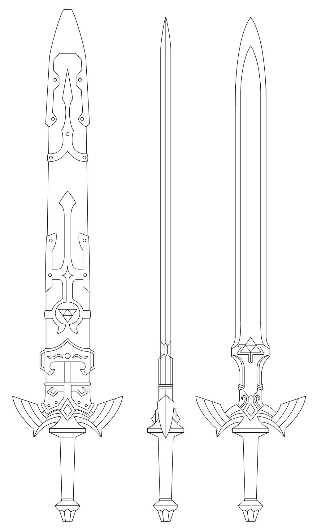 Resultado De Imagem Para Zelda Master Sword Blueprint pour Coloriage D Épée
