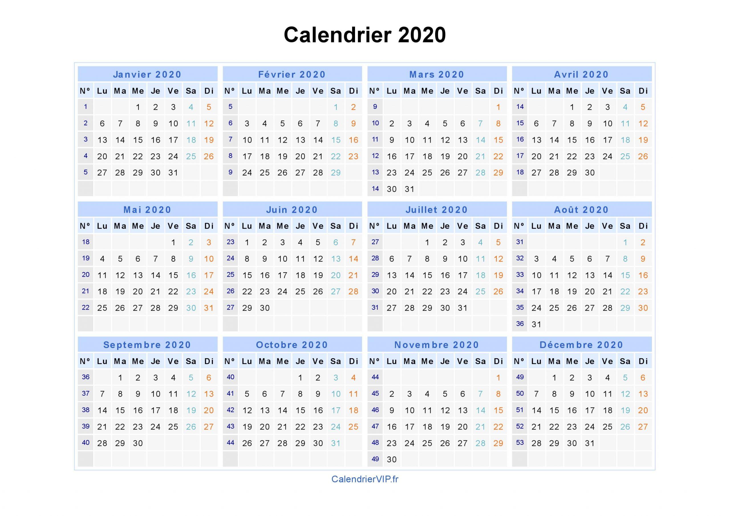 """Résultat De Recherche D'images Pour """"calendrier 2020 destiné Calendrier 2019 Avec Semaine"""