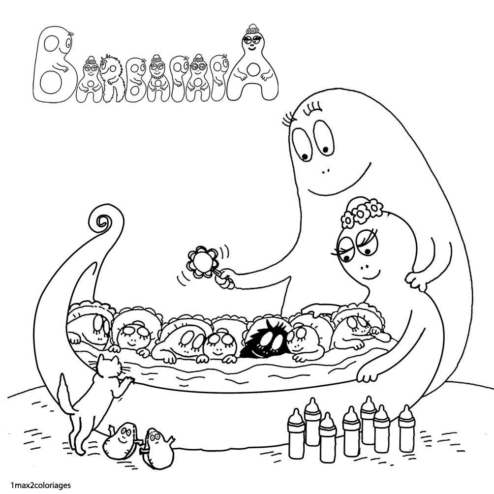 """Résultat De Recherche D'images Pour """"coloriage Barbapapa encequiconcerne Coloriage Barbapapa À Imprimer Gratuit"""
