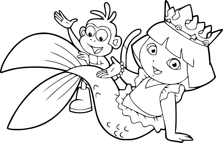 """Résultat De Recherche D'images Pour """"coloriage Dora intérieur Coloriage Dora Princesse"""