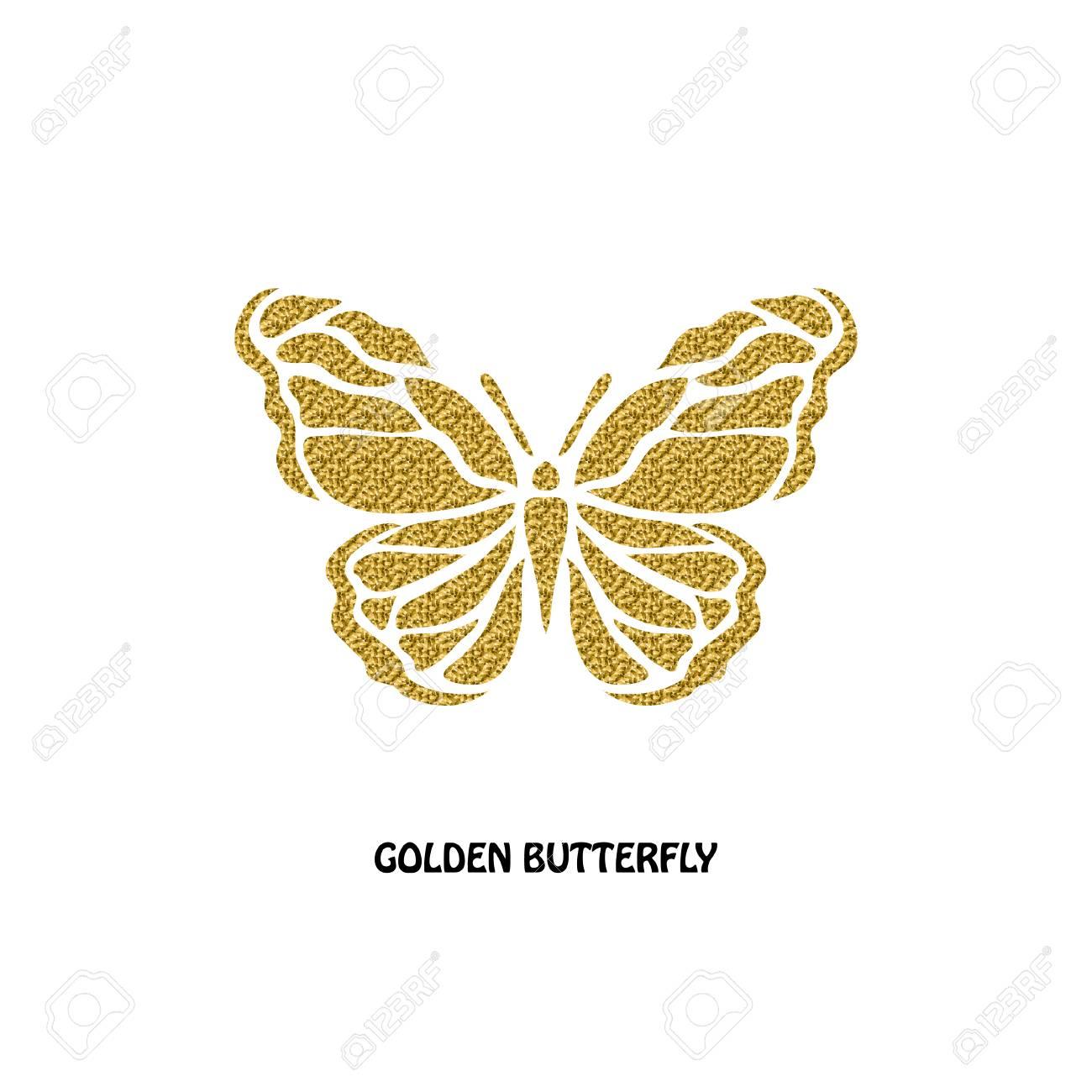 Résumé Symbole De Papillon D'or, Élément De Design. Peut Être Utilisé Pour  Des Invitations, Cartes De Voeux, Scrapbooking, D'impression, Les destiné Etiquette Papillon A Imprimer