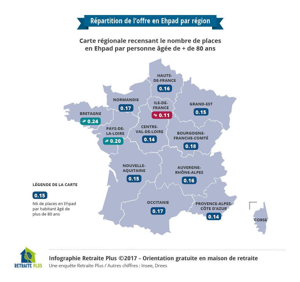 Retraite Plus Dresse Un Panorama De La Situation En Maisons intérieur Nombre De Régions En France 2017