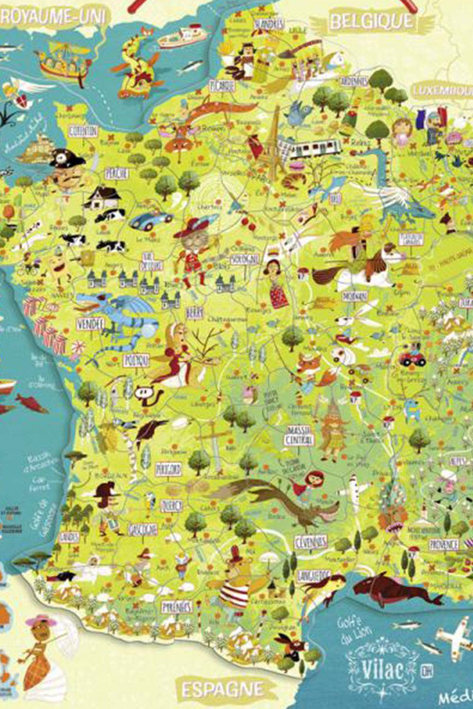 Retrouvez Une Carte De France Richement Illustrée Sous Forme concernant Jeu Geographie Ville De France