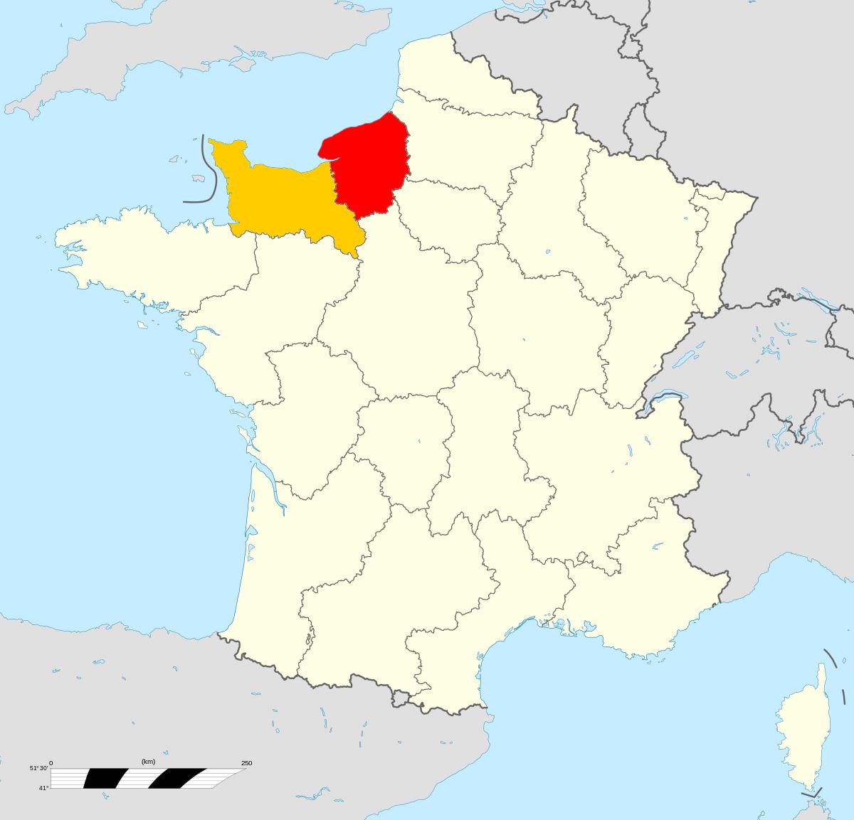 Réunification De La Normandie — Wikipédia avec Nouvelle Carte Des Régions De France