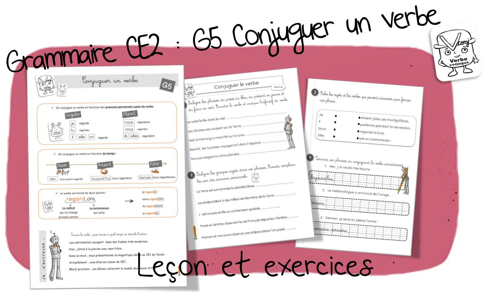 Réussir En Grammaire Au Ce2 : G5. Conjuguer Un Verbe | Bout destiné Cours Ce2 A Imprimer