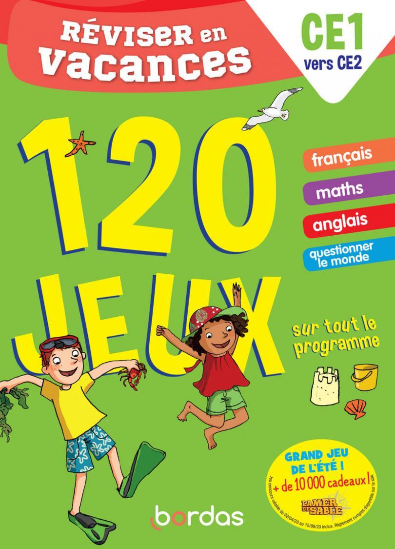 Réviser En Vacances Du Ce1 Au Ce2 - 120 Jeux Sur Tout Le intérieur Cahier De Vacances Moyenne Section A Imprimer