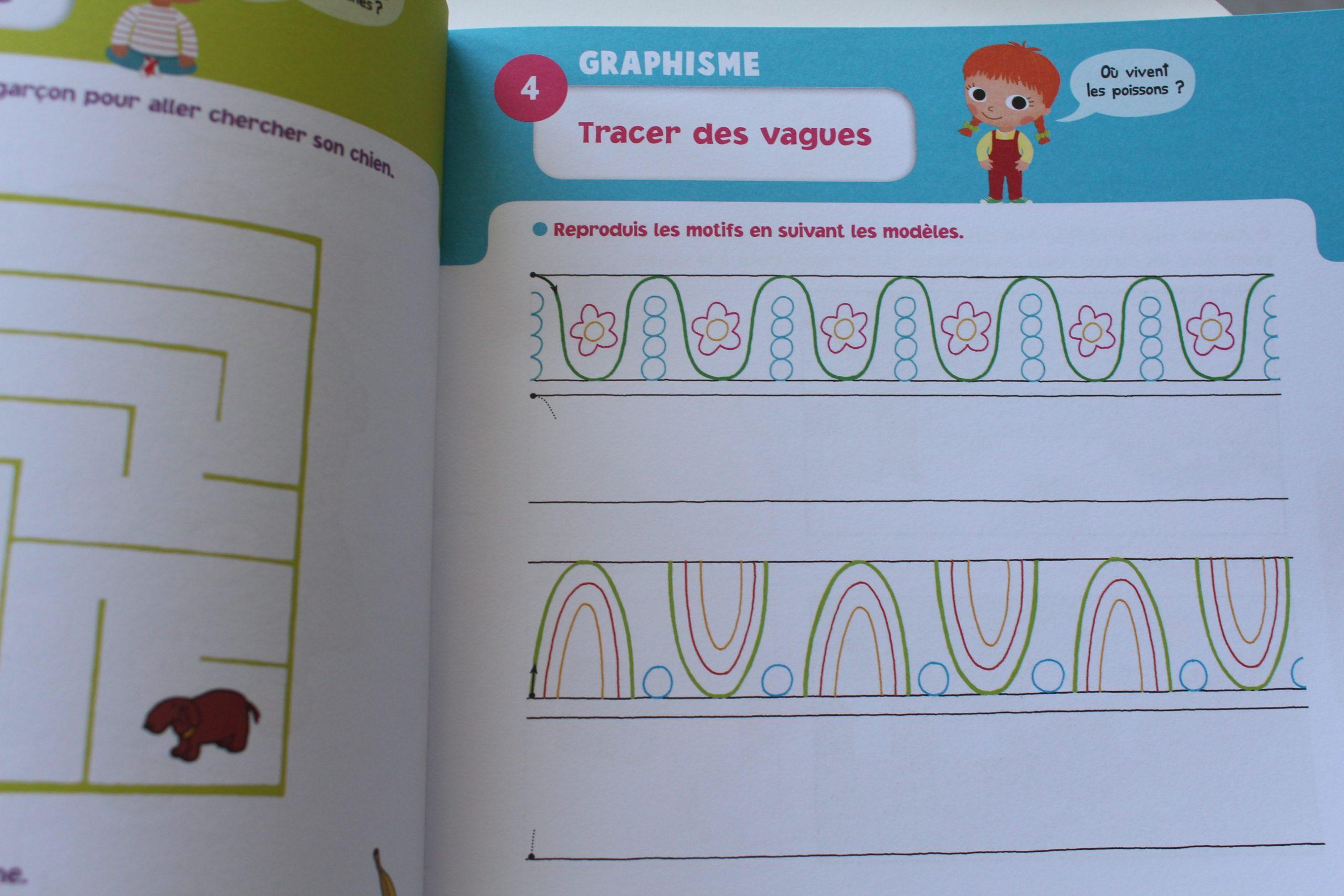 Réviser Toute L'année Et Découvrir En S'amusant : Les dedans Livre Graphisme Maternelle