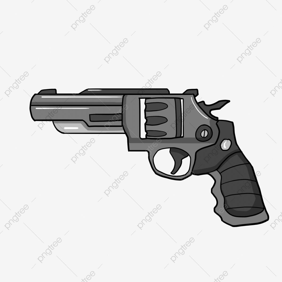 Revolver Pistolet Pistolet De Dessin Animé Arme Arme, Armes intérieur Comment Dessiner Un Fusil