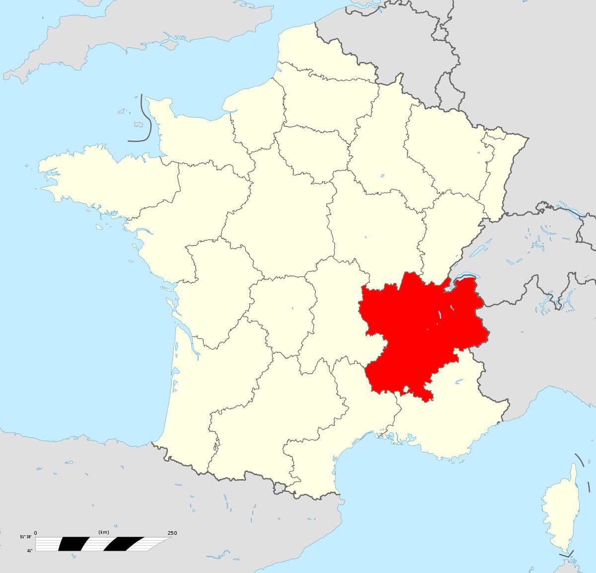 Rhône-Alpes — Wikipédia intérieur Apprendre Les Régions De France